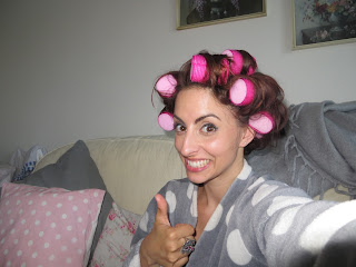 Sleeprollers pink hair rollers review blogger big volume