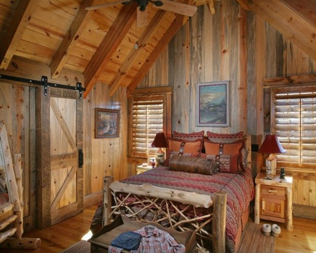 Small Bathroom Design Ideas: Rustic Cabin Bedroom Decorating Ideas
