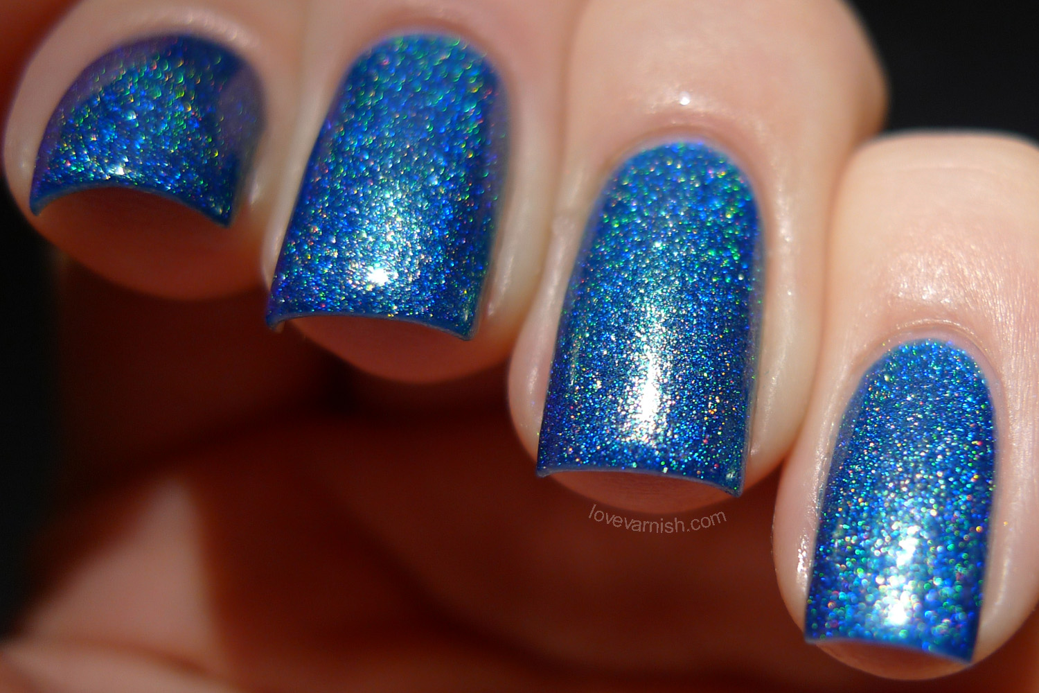 F.U.N Lacquer Dazzling Blue holographic polish