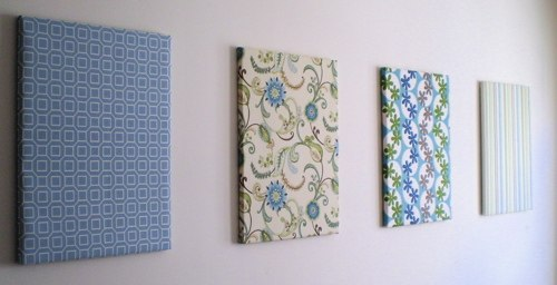 Wall Decor With Cloth : Frugal d?cor fabric wall panels turtledove