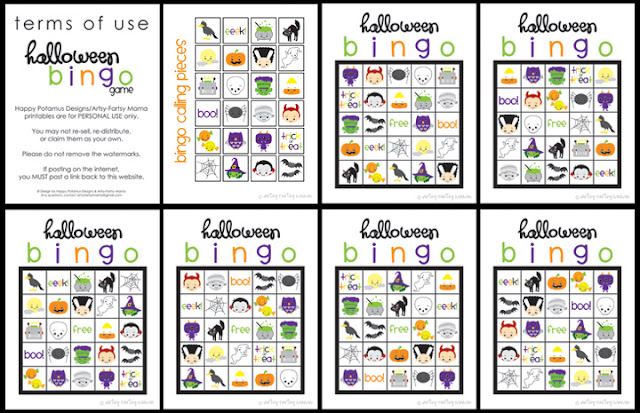 It is a graphic of Peaceful Free Printable Halloween Bingo Cards