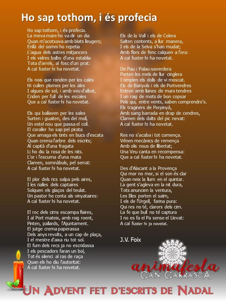 El Calendari d'Advent d'Animafesta - Can Carrasca