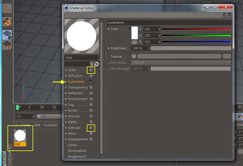 2D Style for 3D Objects in Cinema 4D 03