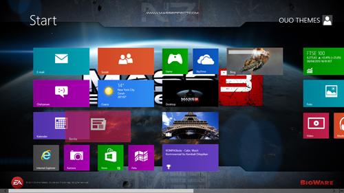 Mass Efffect 3 Theme For Windows 8