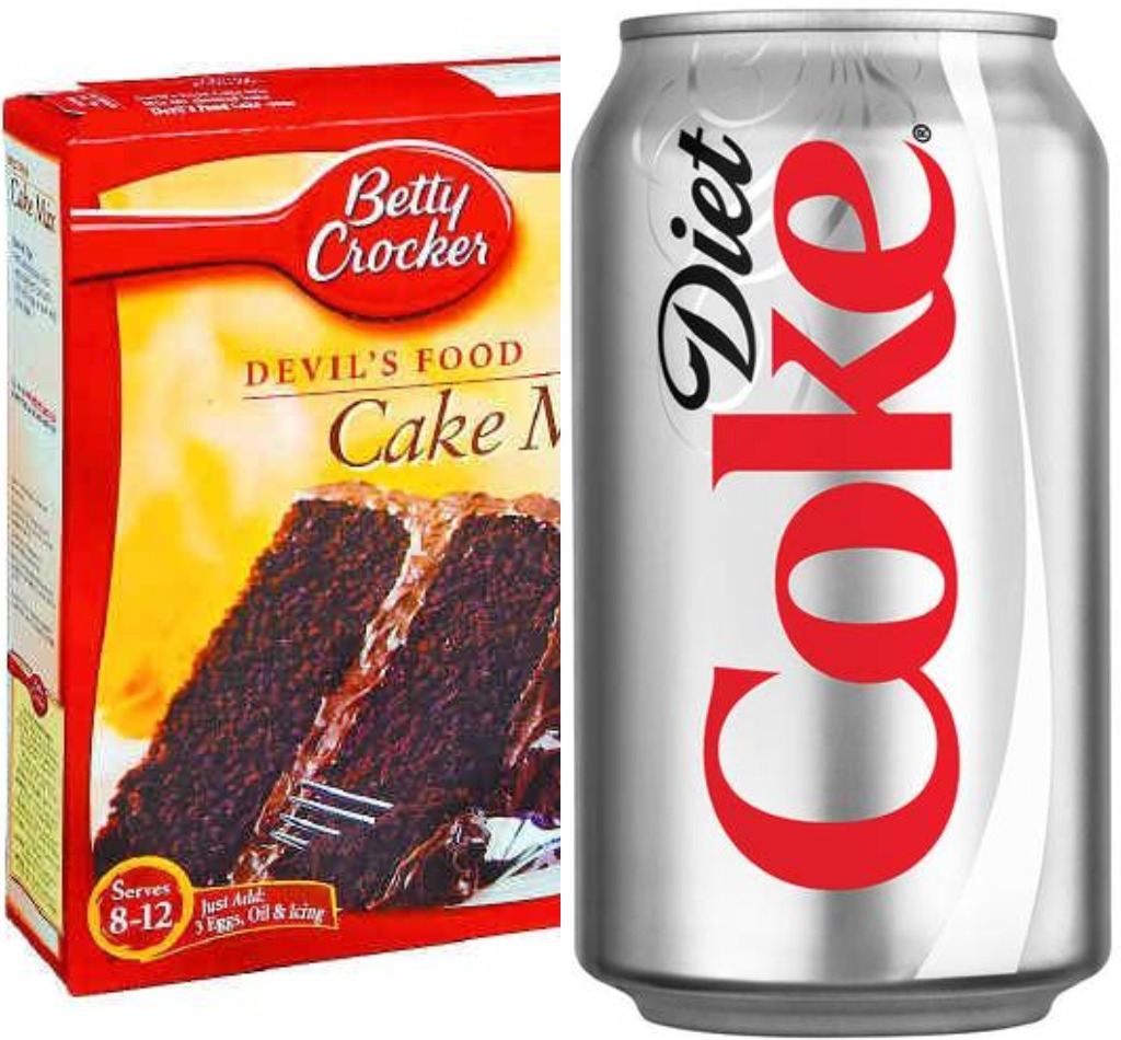 Have you ever heard of cake made with diet soda?