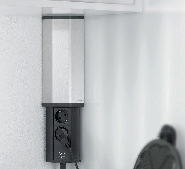 enchufe cocina esquina gravity armario alto USB