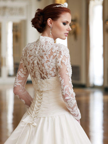 Fashion lace wedding dresses with long sleeves images for Long sleeve lace wedding dresses