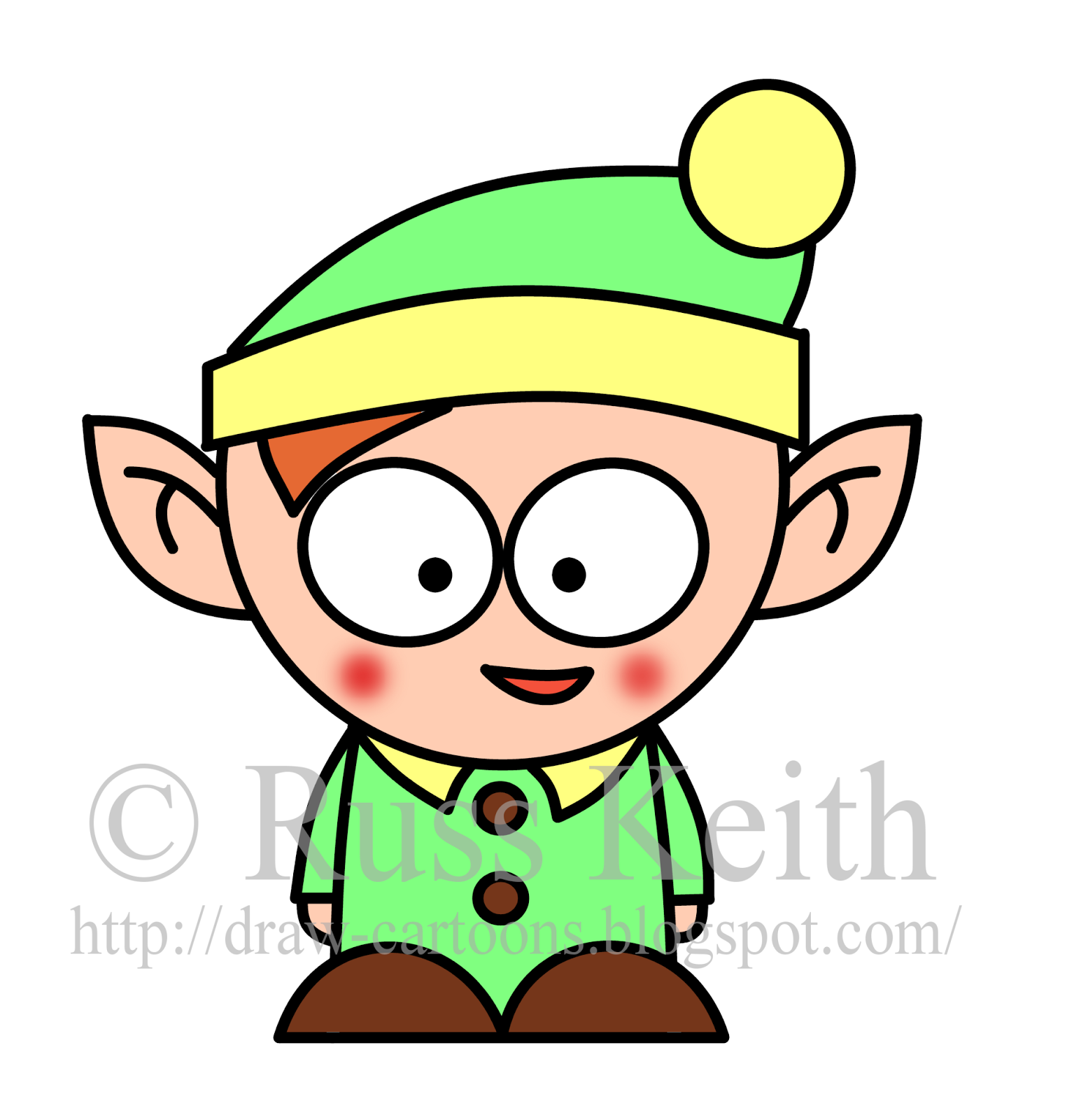 christmas elf - How To Draw A Christmas Elf