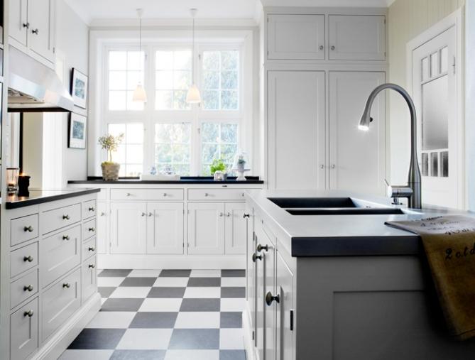 Vakre kjøkken i svart og hvitt/ Beautiful black and white kitchens ...