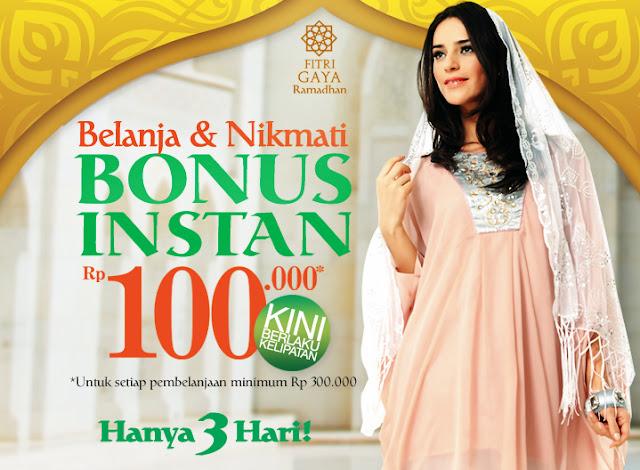 Promo Matahari Terbaru Bonus Instant 100.000 Berlaku 17 – 19 Juli 2013