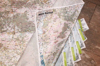 Mapas en tela de New Forest