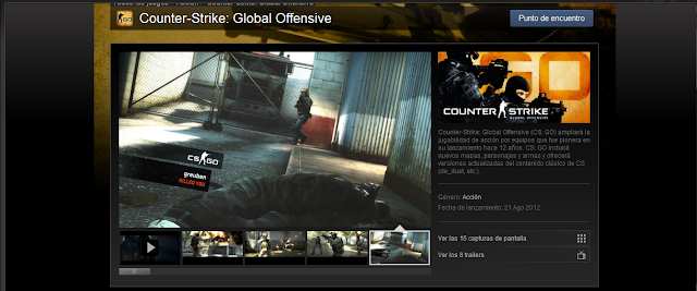 Counter Strike: Global Offensive en Steam.