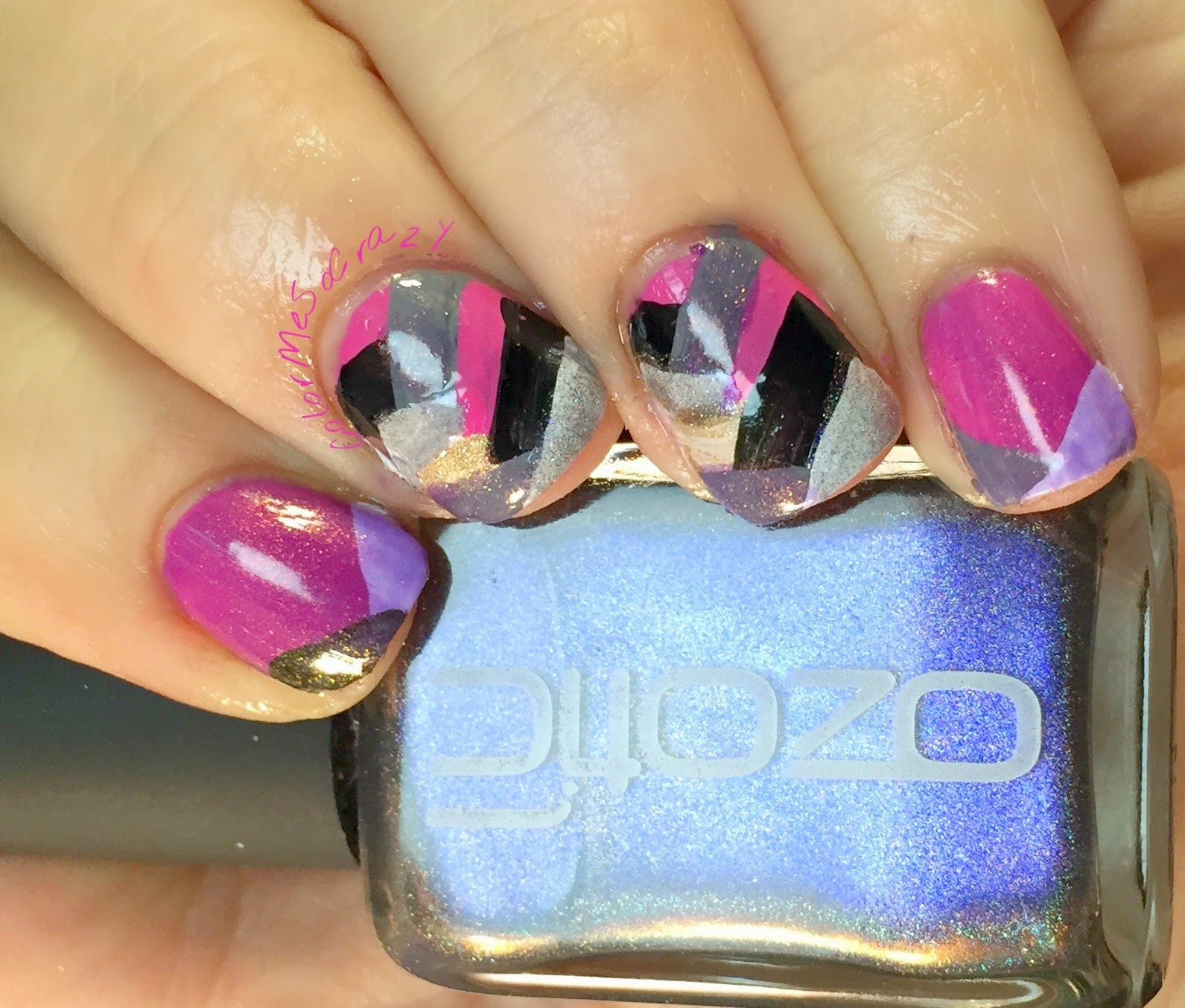 52 Week Challenge presents Fish Braid with Non-Glitter Topper, max factor fantasy fire, zoya, rica, ozitic, maybelline, nopi