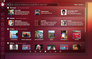 ubuntu 12.10 social lens