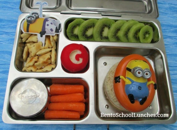Despicable Me Minion bento school lunch