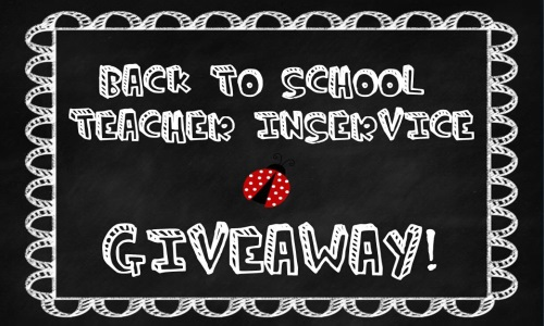 LooneysLitBlog: Celebrating Back to School In-service with a Giveaway!