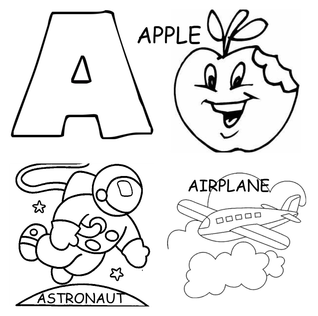 Objects Starting with Letter A http://boltonshire.blogspot.com/2011/06/cool-abc-coloring-sheets.html