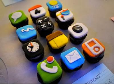 Bánh ngọt cup cake hình điện thoại iPhone