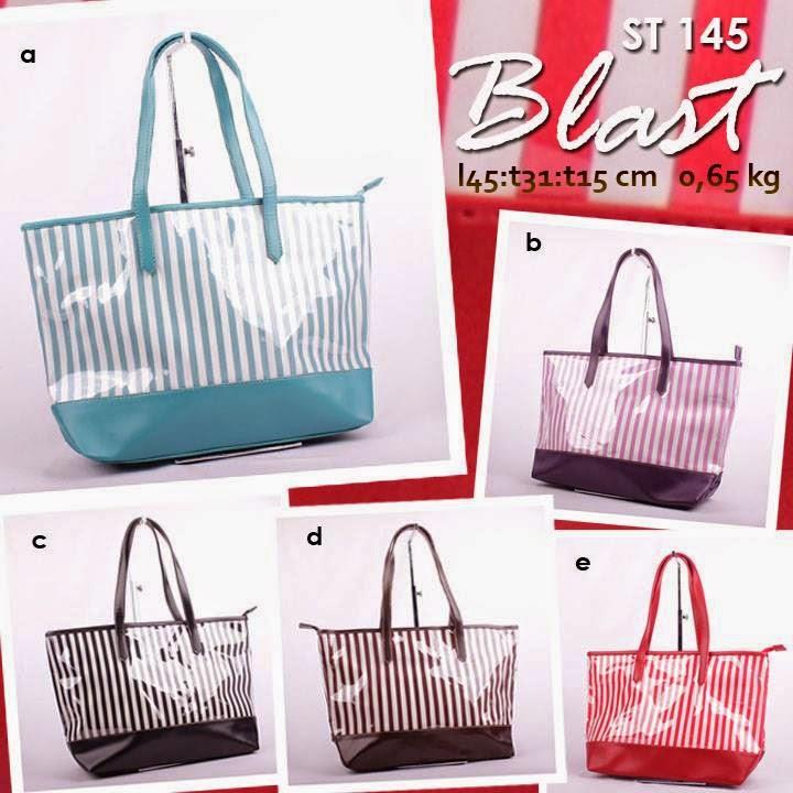 jual online handbag wanita motif salur harga murah