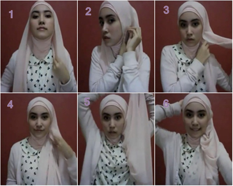 gambar tutorial hijab simple cantik