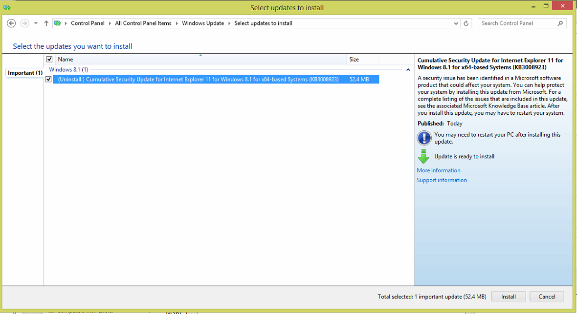 manually install windows 8 updates