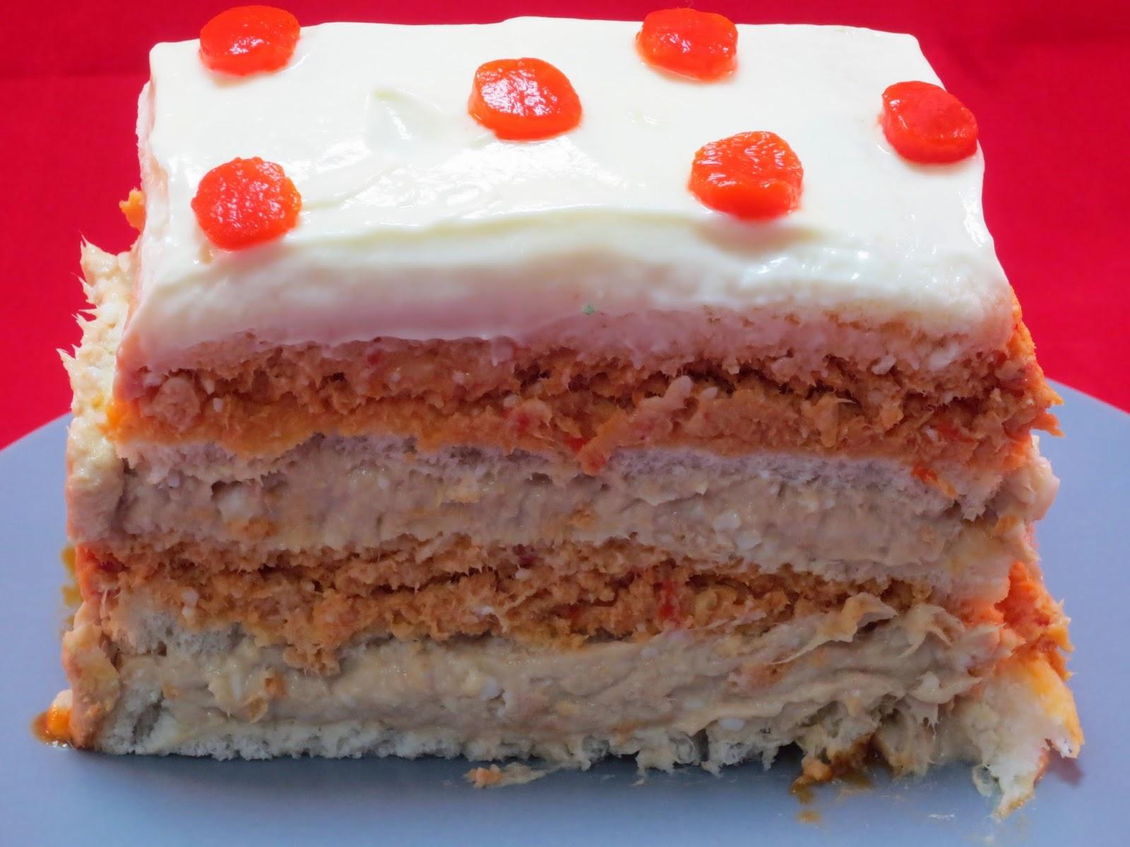 Pastel de atún bicolor Ana Sevilla cocina tradicional