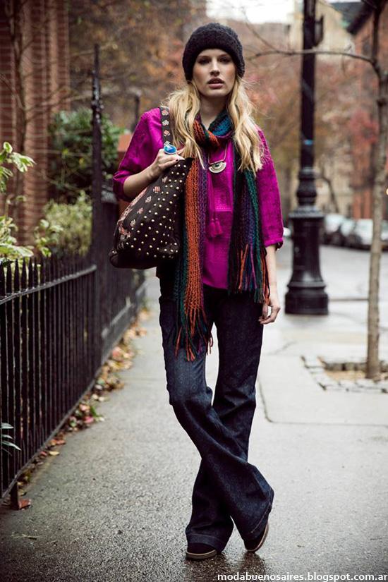 India Style otoño invierno 2014 pantalones oxford.