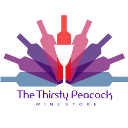The First Logo I Chose Was For Thirsty Peacock Winestore This Caught My Eye Because Of Analogous Color Scheme Which Designer Used