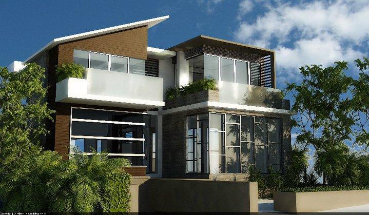 3D Front Elevation.com: 3D front Elevation of Architecheral Home 1 ...