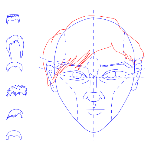 Man's Face -- Draw Hair