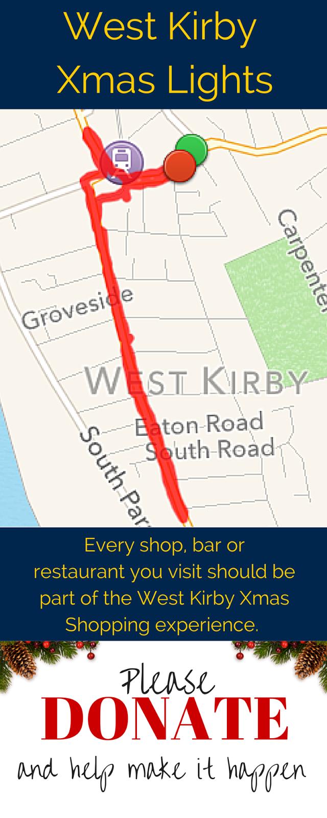 West Kirby Christmas Lights: Xmas Lights Map