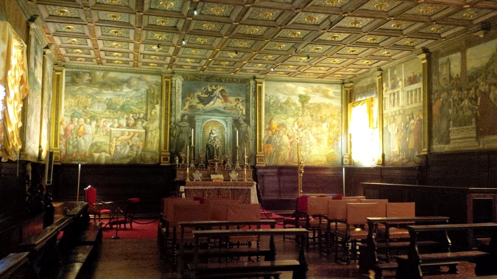 Inside St. Anthony's School in Padua