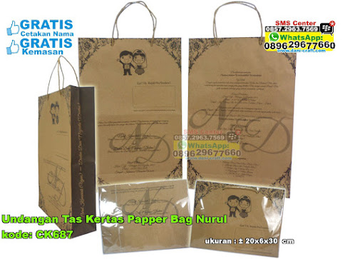 Undangan Tas Kertas Papper Bag Nurul