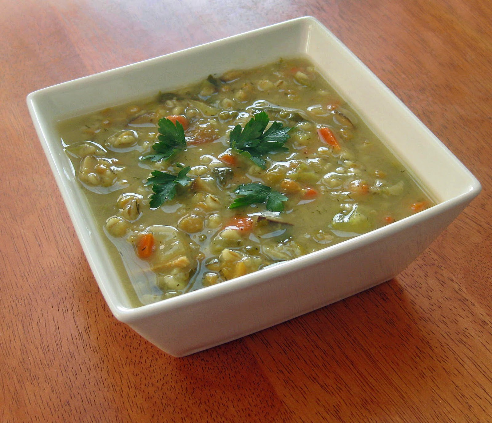 Cooking with Corey: Mushroom Barley Soup