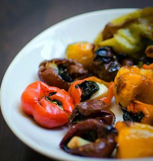 Roasted Garlic Basil Pepper Poppers Recipe