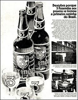 pinga 3 Fazendas, aguardente três fazendas, 1972; os anos 70; propaganda na década de 70; Brazil in the 70s, história anos 70; Oswaldo Hernandez;