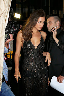Irina Shayk – Hot Panties In Black See through Dress in Cannes