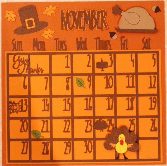 November Calendar Ideas : Cricut crazy scrapper november calendar
