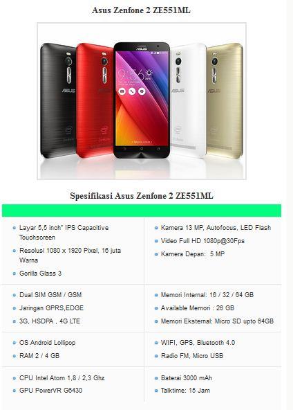 Asus Zenfone 2 Z551ML
