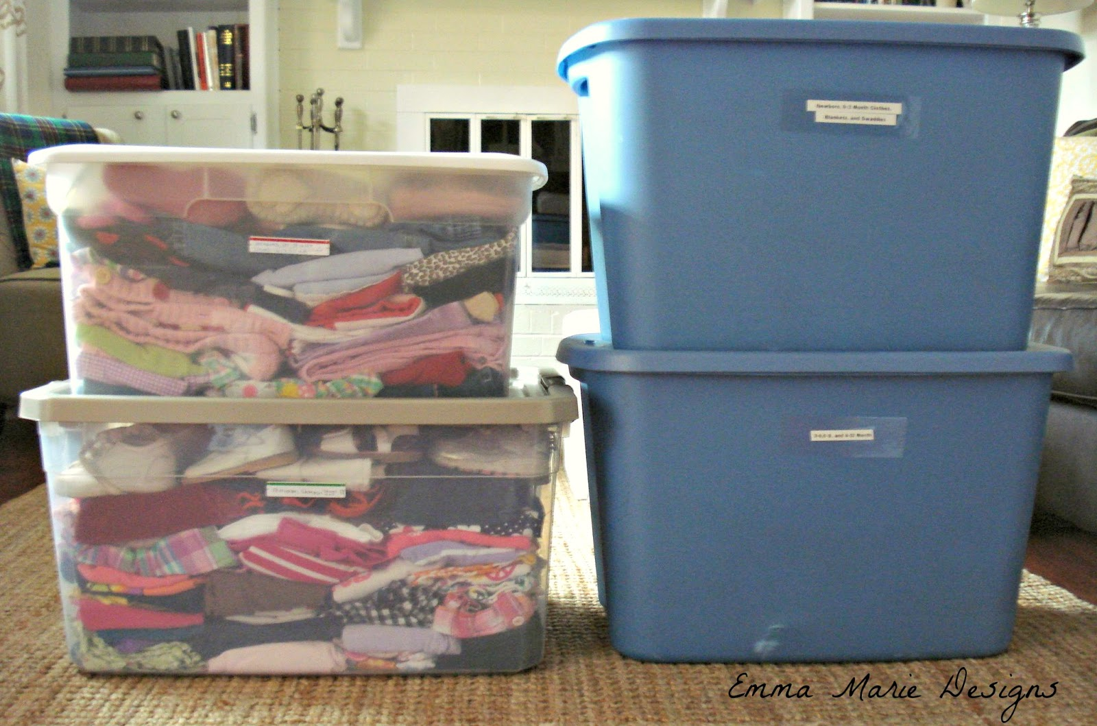 First, I Laid Out All The Clothes Sorting Them Into Piles According To Size  So That I Could See Exactly What Quantities I ...