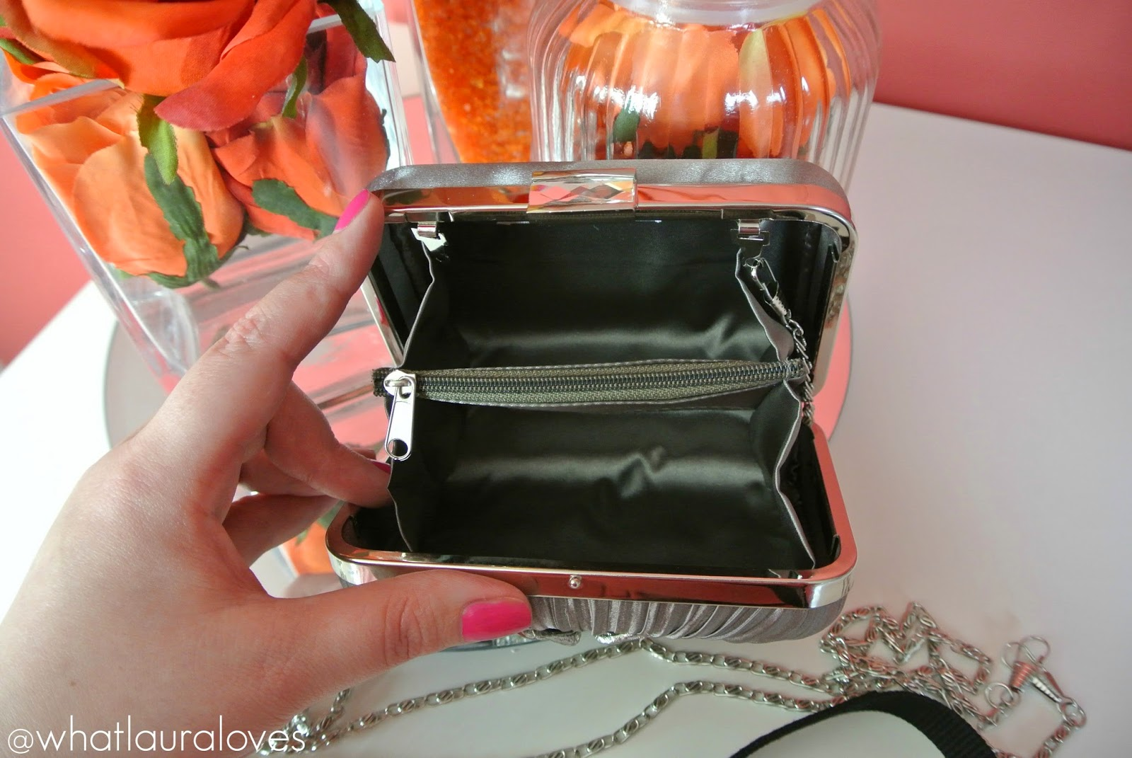 Grey Vintage Crystal Clutch Bags From Accessories Boutique
