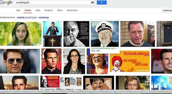 google search results for scientologists