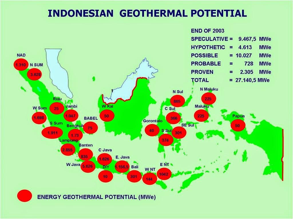 Potensi Sumber Tenaga Panas Bumi Indonesia