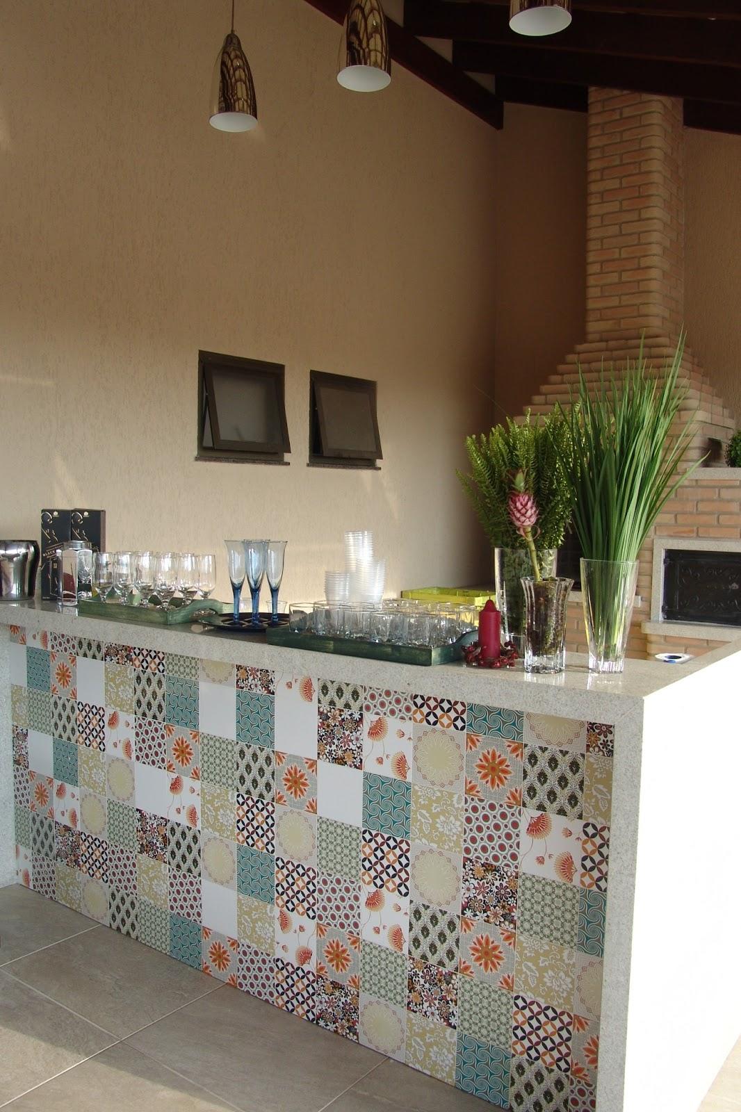 Teia Design: Ladrilho Hidráulico e Azulejo Decorado no Lar #65472E 1066x1600 Azulejo Para Banheiro Decorado
