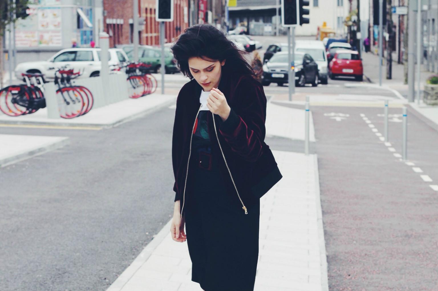 sandro velvet jacket imageanchor=