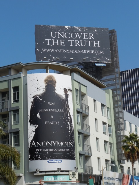 Anonymous movie billboards
