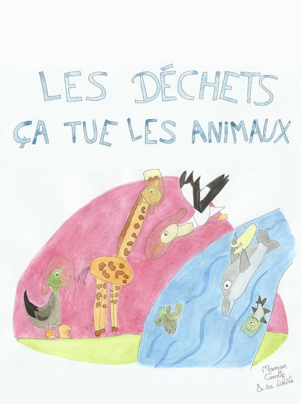 dessin d'une petite fille qui veut sauver la planète