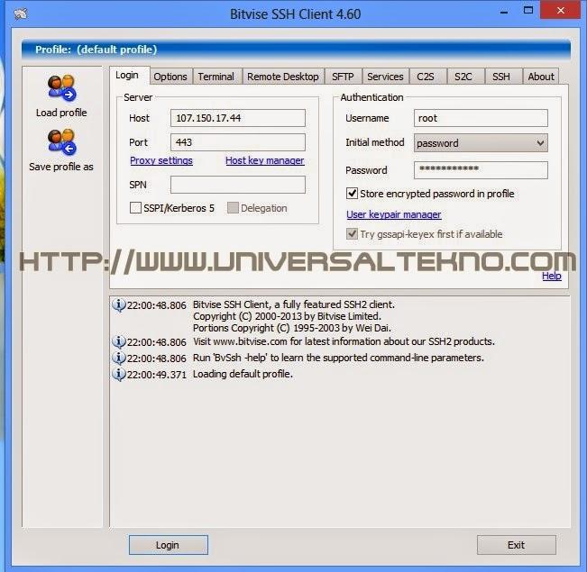 Cara Menggunakan SSH Menggunakan Bitvise Client Lengkap dengan Gambar Mudah..!