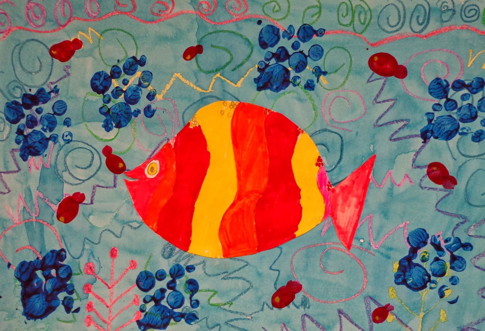 The Art Factory: Contrasting Fish