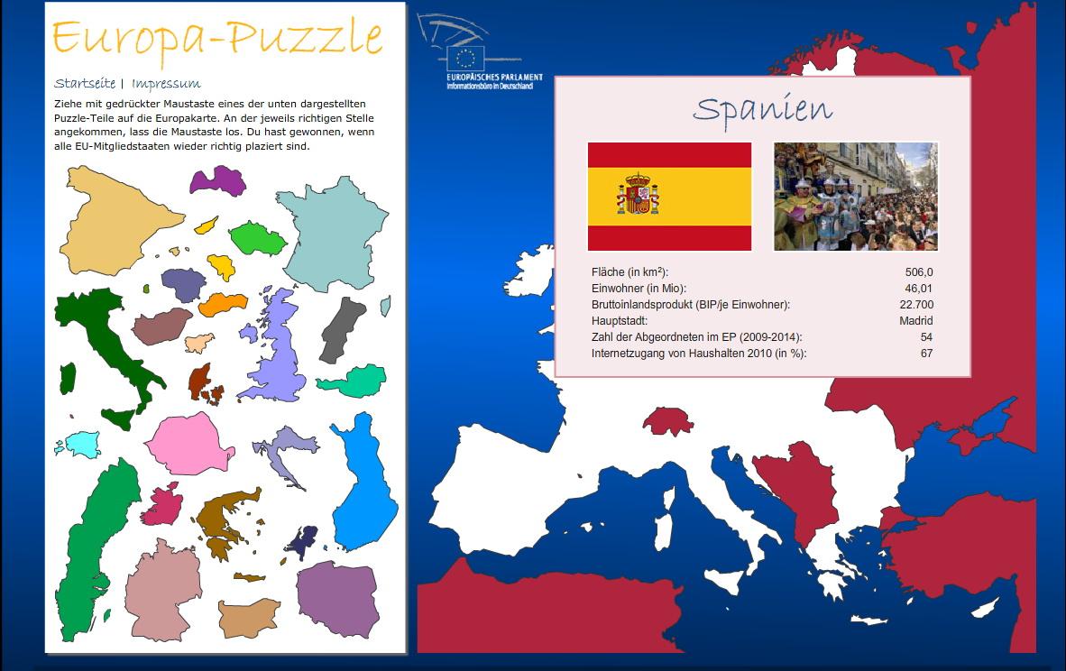 Europa spielerisch kennenlernen